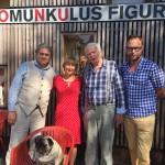 Herrmann Zschoche zu Gast während der nach ihm benannten Filmwoche im Homunkulus 2015; v.l.n.r.Seebühne, Herrmann Zschoche,Konrad Hirsch; Foto: Ralf Stabel